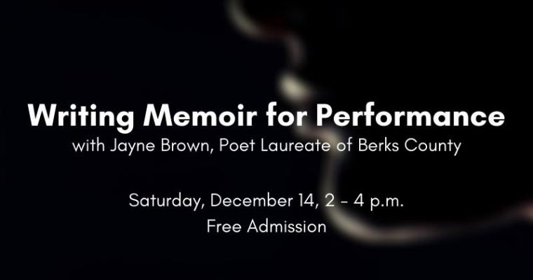 WORKSHOP: Writing Memoir for Performance