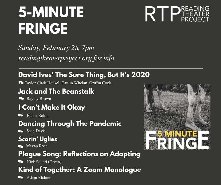 Sunday Night Fringe Line Up